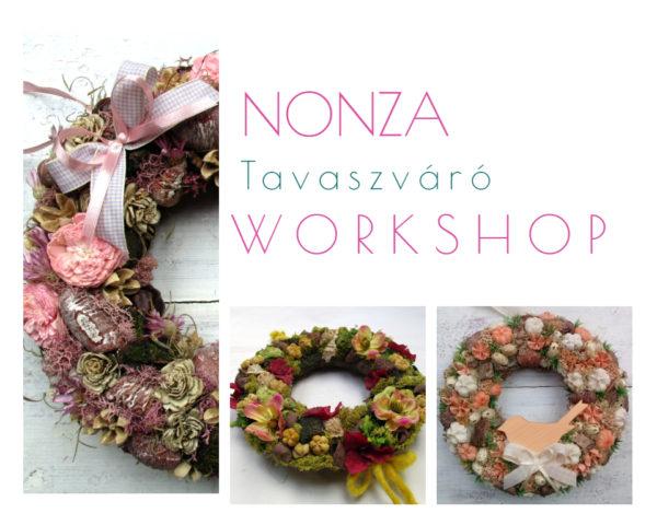 Nonza tavaszváró workshop - terméses ajtókoszorú